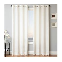 Sunbrella 96'' Solid Grommet Outdoor Panel Natural