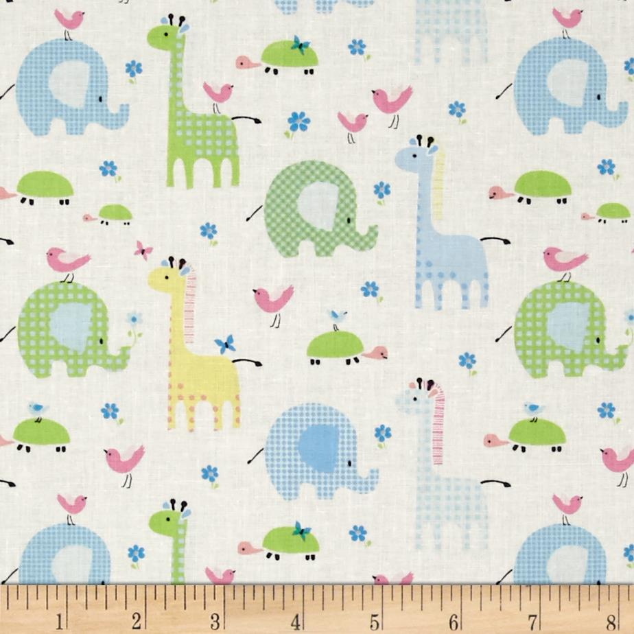 Bobo baby bobo friends pastel discount designer fabric for Cheap baby fabric