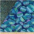 Venetian Glass Double Faced Quilted Strip Blue/Green