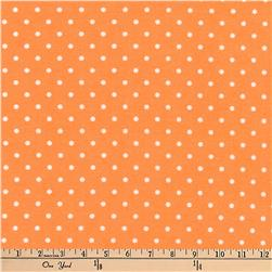 Kaufman Cozy Cotton Flannel Dots Orange