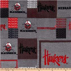 Collegiate Fleece University Of Nebraska Plaid Blocks