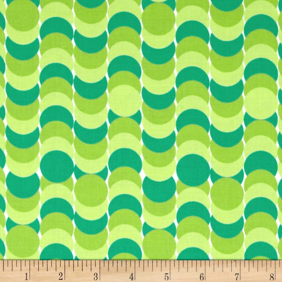 Dots Right Circle Stripe Green
