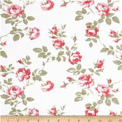 Petal Scattered Roses Ivory Fabric