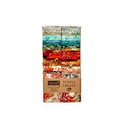 "Timeless Treasures Tonga Batik Copper 2.5"" Strips"