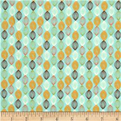 Riley Blake Dinosaur Flannel Stripe Blue Fabric