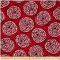 Essentials 8 Border Dotty Roses Red