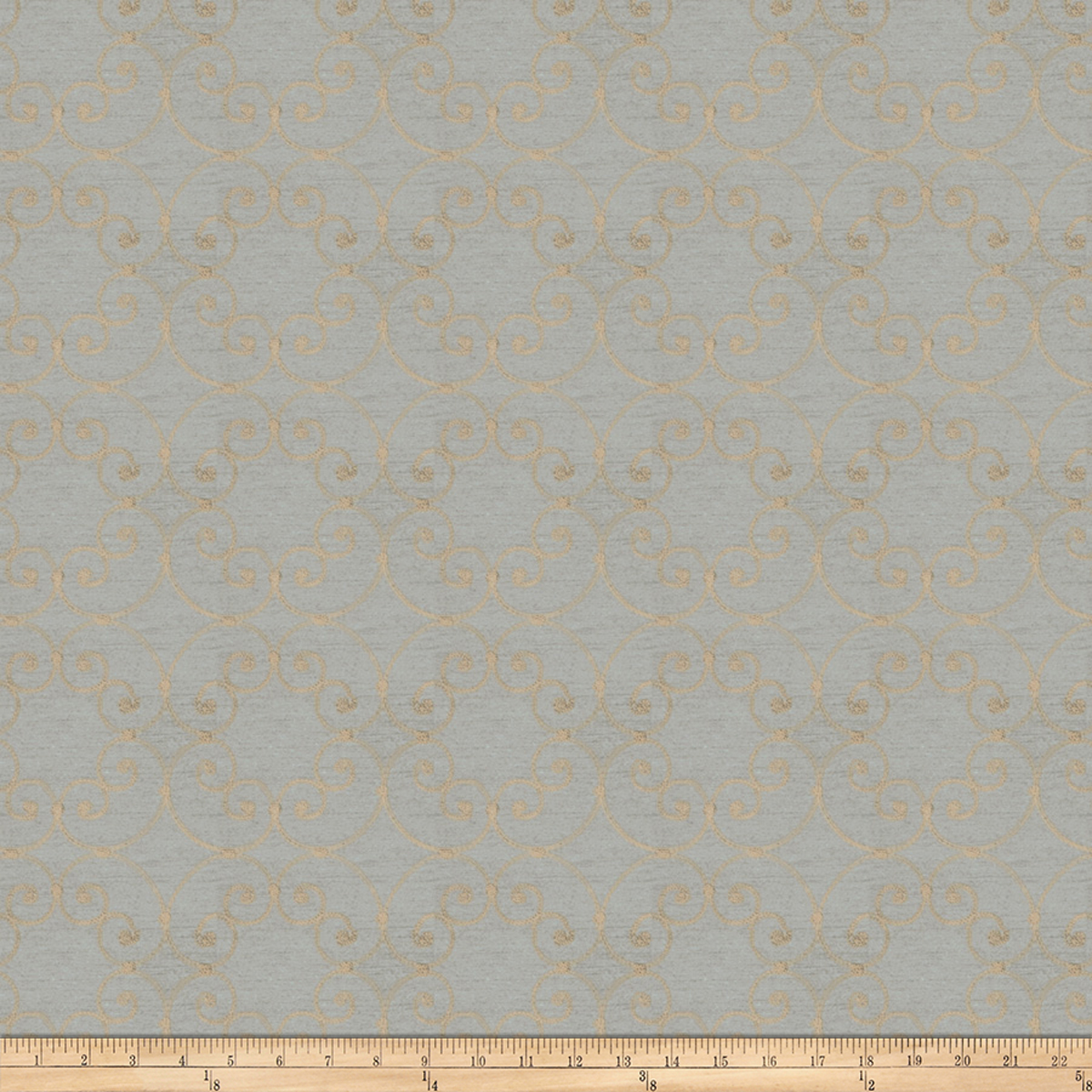 Image of Trend 03166 Faux Silk Steel Blue Fabric
