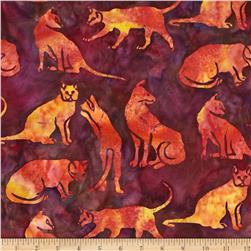 Island Batik Strawberry Fields Wildcats Dark Fucshia/Orange