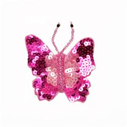 Flutter-Bye Sequin Applique Fuchsia