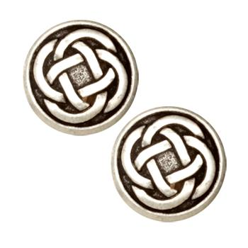 Metal Button 7/8'' Celtic Knot Antique Silver