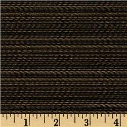 Stretch Bengaline Suiting Mini Stripes Black/Gold