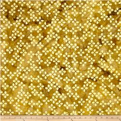 Island Batik Seeds & Dots Mustard/Cream