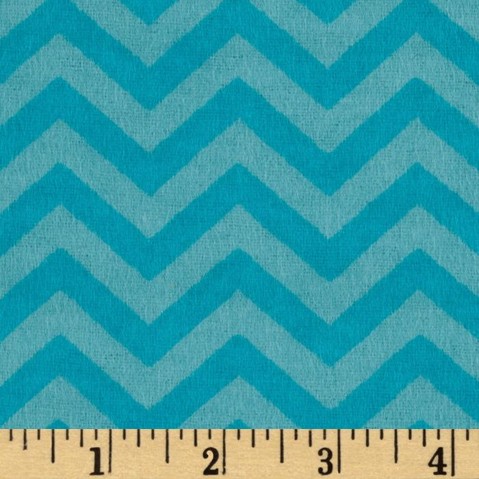 Perched Night Owlies Flannel Chevron Blue