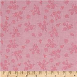 Riley Blake Think Pink Floral Pink Fabric