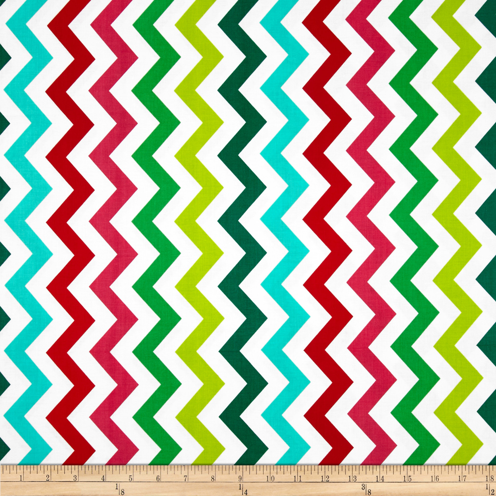 Michael Miller Shi-Shi Chevron Hollyberry Fabric