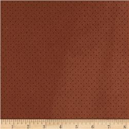 Morgan Fleece-Backed Perforated Suede Copper
