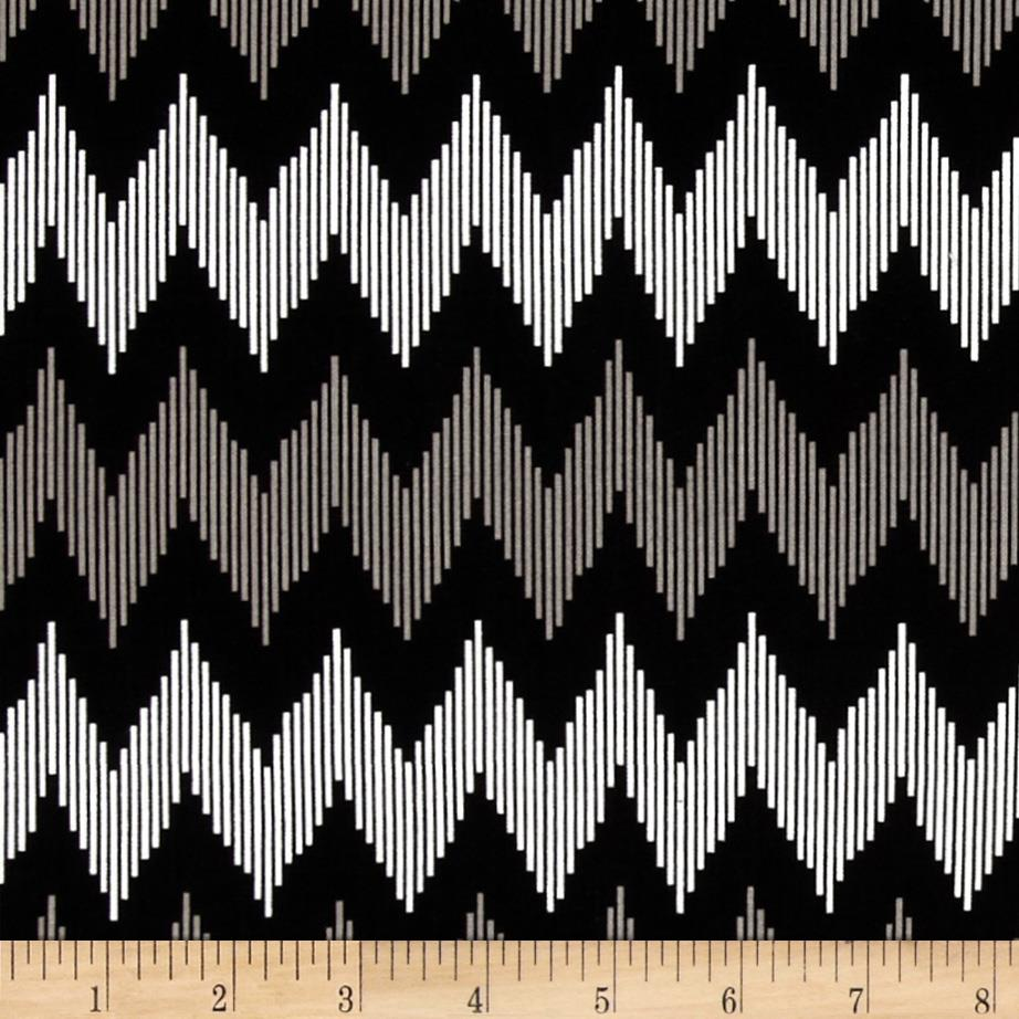 Design Studio Pinstripe Chevron Gray