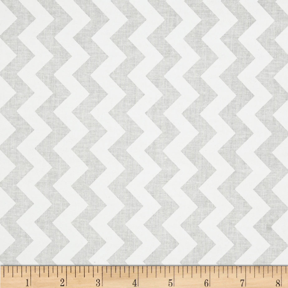 Riley Blake White on White Small Chevron Fabric