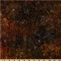 108'' Wide Tonga Batik Quilt Backing Abstract Antique