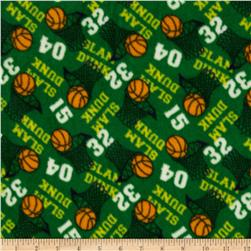 Fleece Basketballs Green