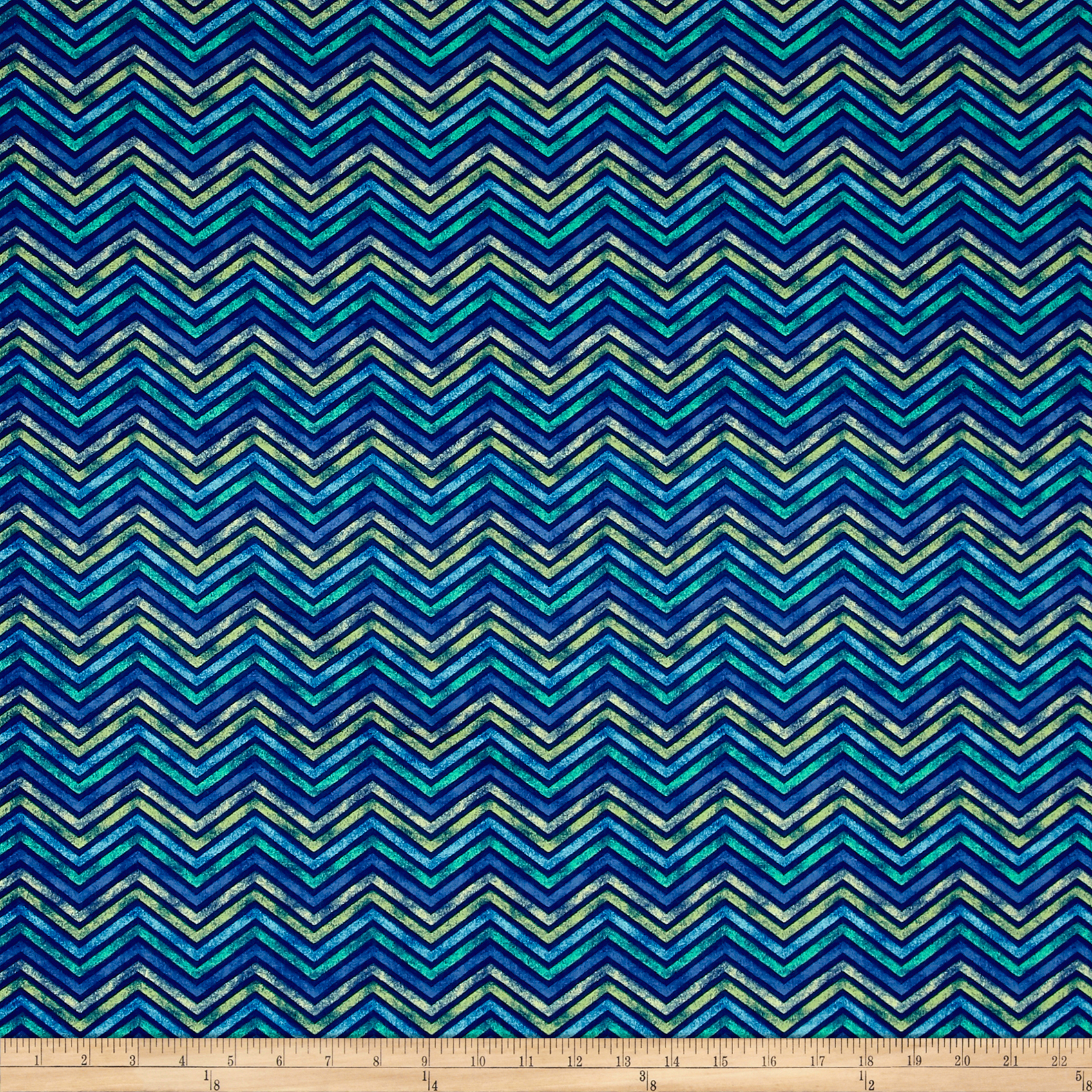 Delaney Chevron Navy Fabric