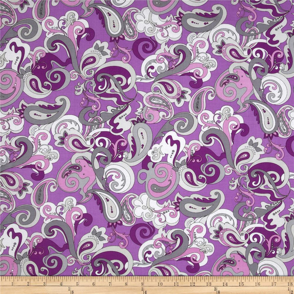 Amethyst Paisley Grey/Purple