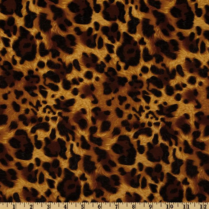 Kaufman Laguna Stretch Jersey Knit Leopard Sable