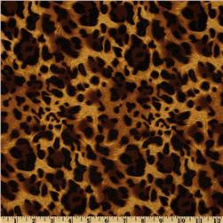 Laguna Stretch Cotton Jersey Knit Leopard Sable