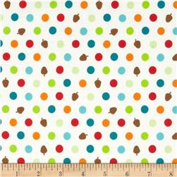 Woodland Park Acorn Dot Multi White