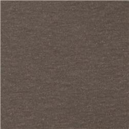 Tri-Blend Distressed Jersey Knit Heather Dark Taupe Grey