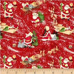 Christmas Time Christmas Eve Vintage Santa Red