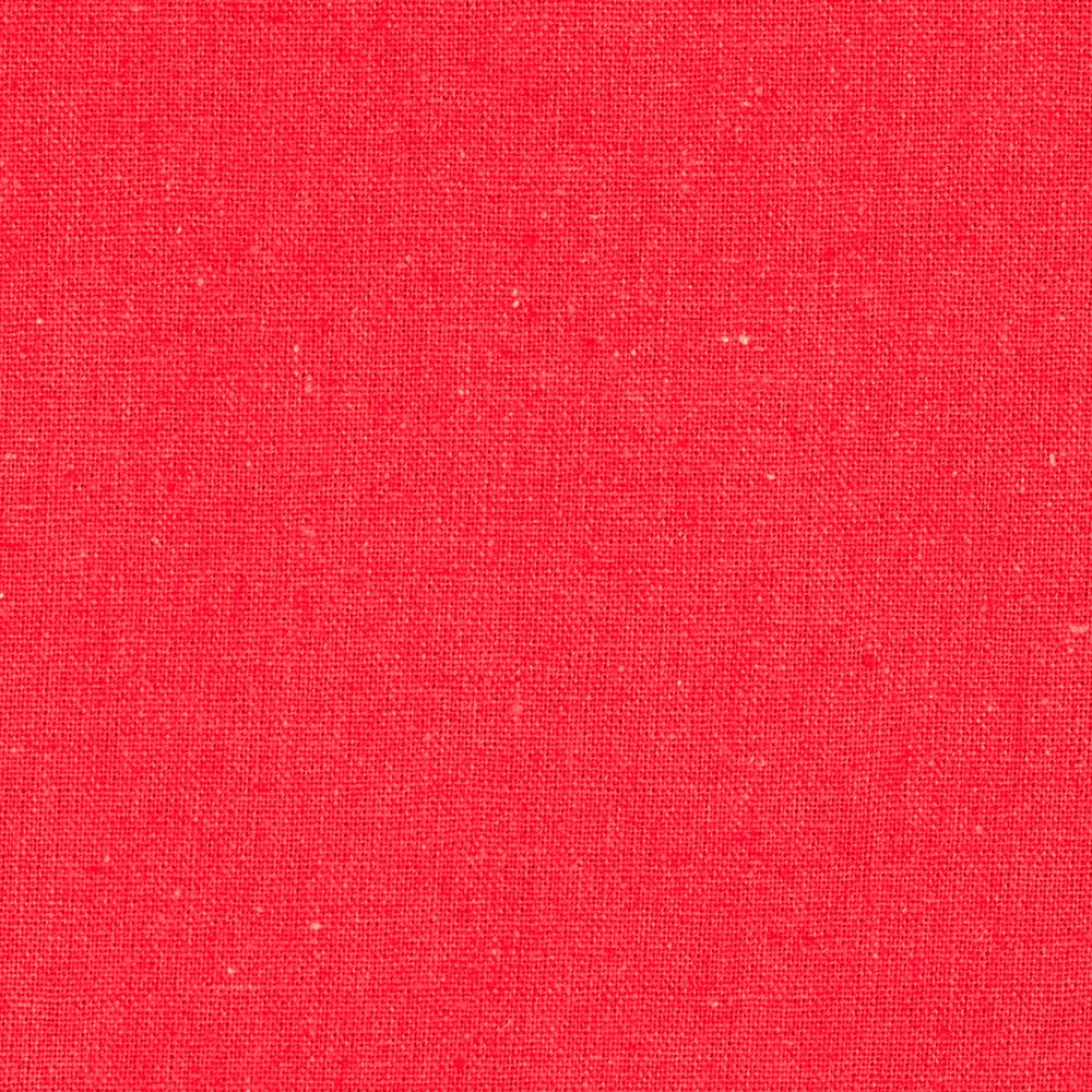 Designer Essentials Linen/Cotton Solid Red