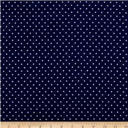 Robert Kaufman Cozy Cotton Flannel Small Dot Navy