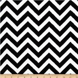 Fleece Chevron Black/White