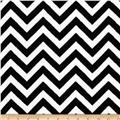 Plush Coral Fleece Chevron Black/White