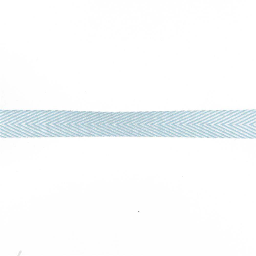 "3/4"" Twill Tape Chevron Stripes Light Blue"