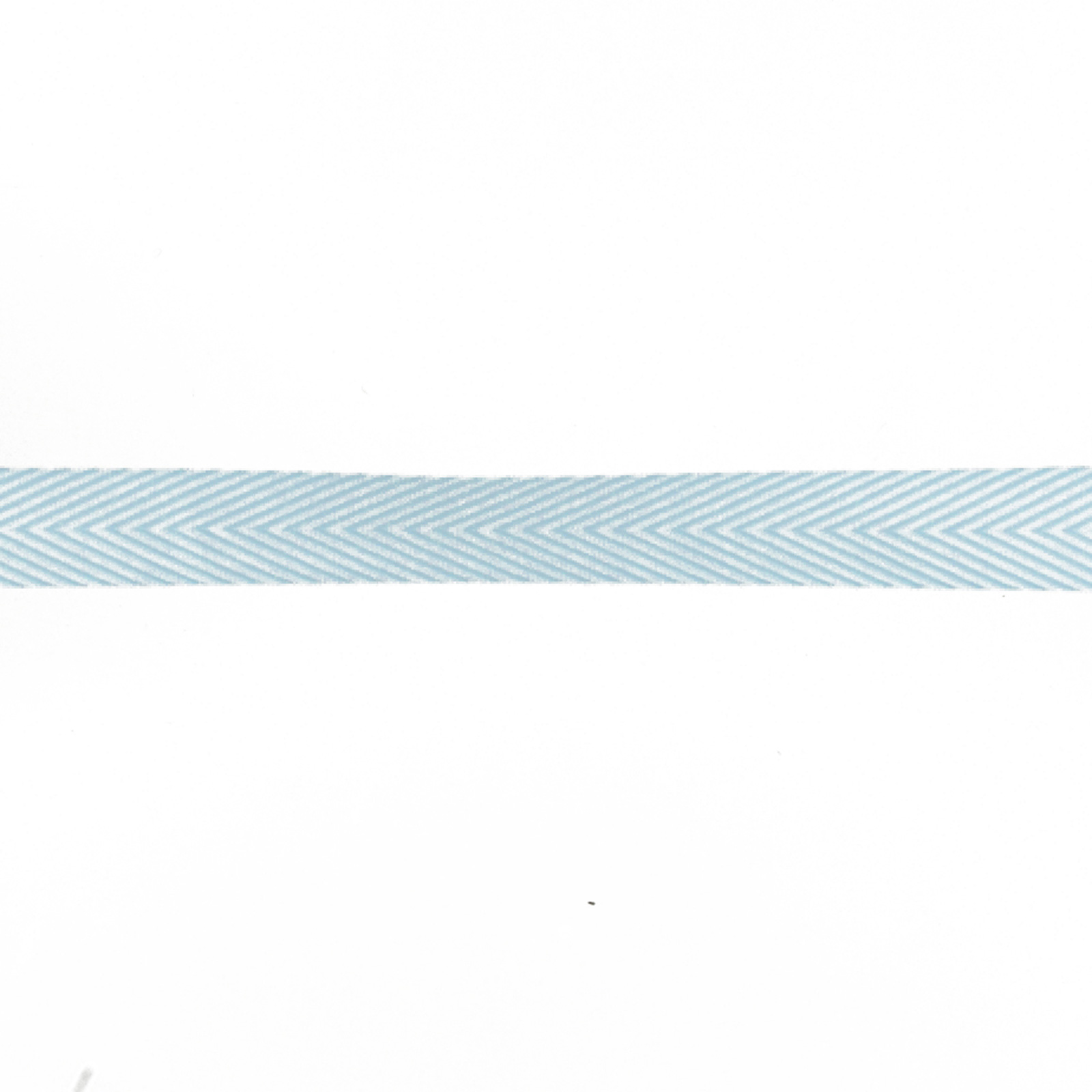 3/4'' Twill Tape Chevron Stripes Light Blue