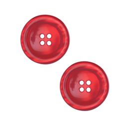 "Riley Blake Sew Together 2"" Pearl Button Red"