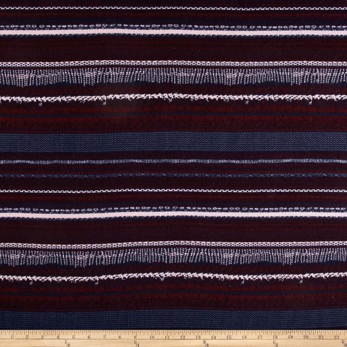 Knitting Vertical Stripes In The Round : Designer waffle knit heart striped navy burgundy