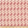 Lovebirds Chevron Cream Pink