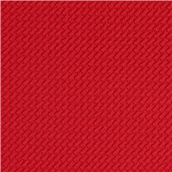 Pique Double Knit Coral Red