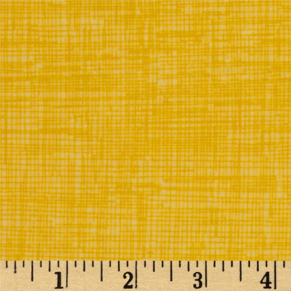 Timeless Treasures Sketch Flannel Yellow Fabric By The Yard