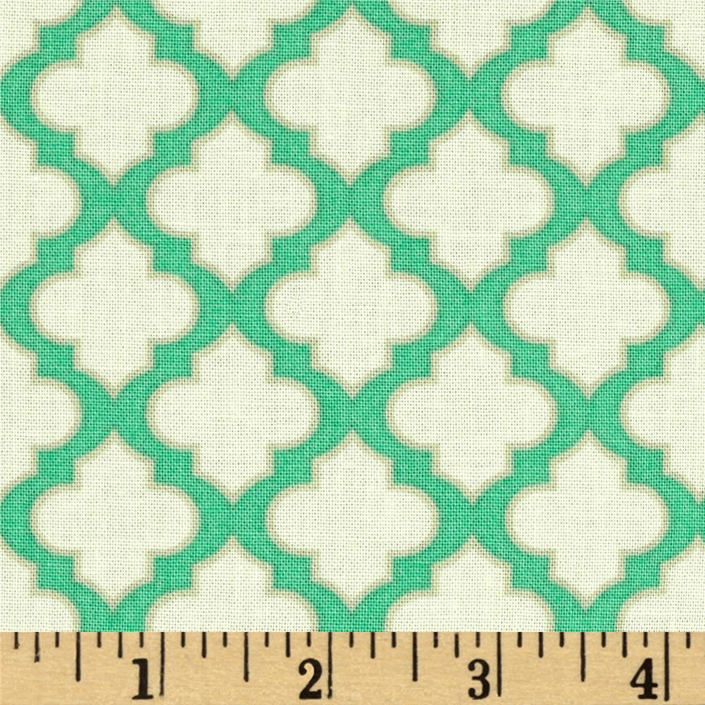 Heather Bailey Up Parasol Trellis Turquoise