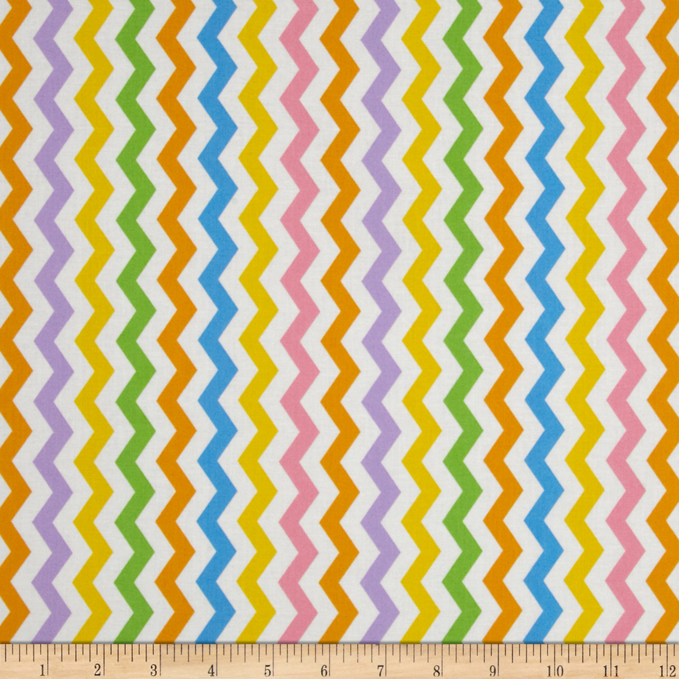 Flamingo Road Chevron Multi Fabric