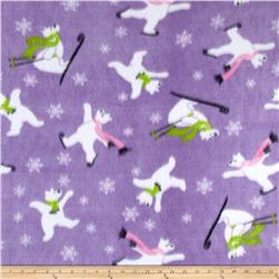 Christmas Fleece Polar Bears Purple