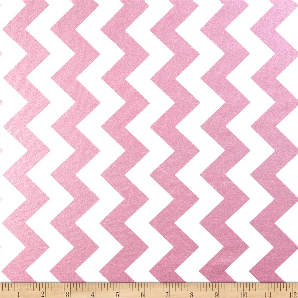 Riley Blake Hollywood Sparkle Medium Chevron Hot Pink
