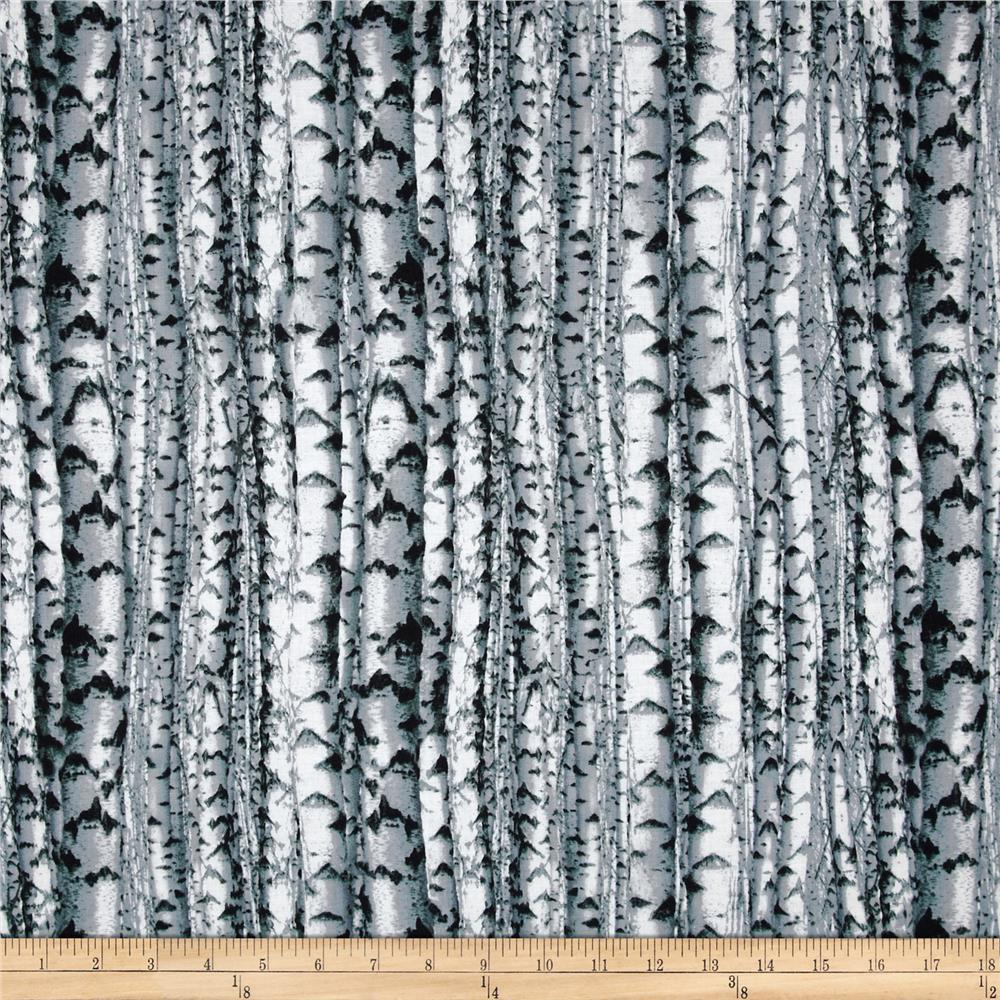 Northwoods Birch Trees Black