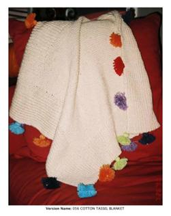 Mac & Me Cotton Tassle Blanket Knitting Pattern