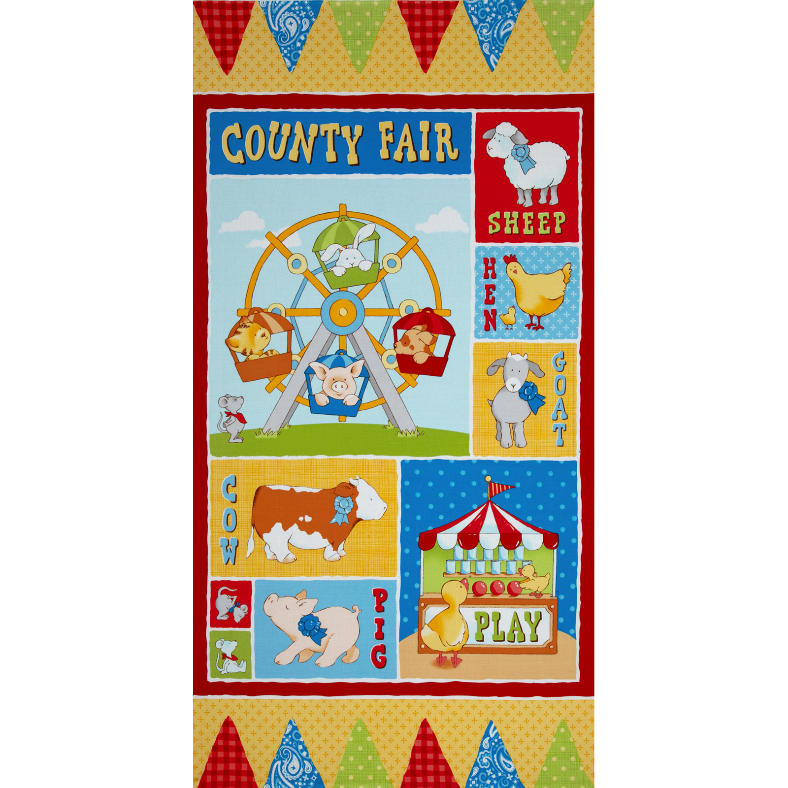 Cuteville Country Fair Panel Yellow