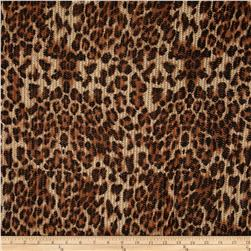 Mesh Knit Cheetah Print Brown/Black/Beige